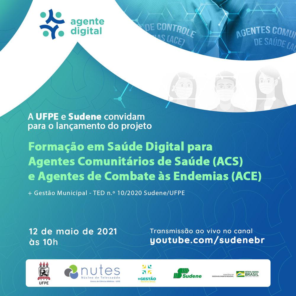 Núcleo de Telessaúde da UFPE e SUDENE lançam estratégia para formação em saúde digital