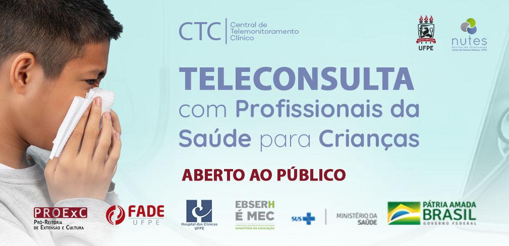 Reaberta ao público a agenda de Teleconsultas de Covid-19 para Crianças e Adolescentes