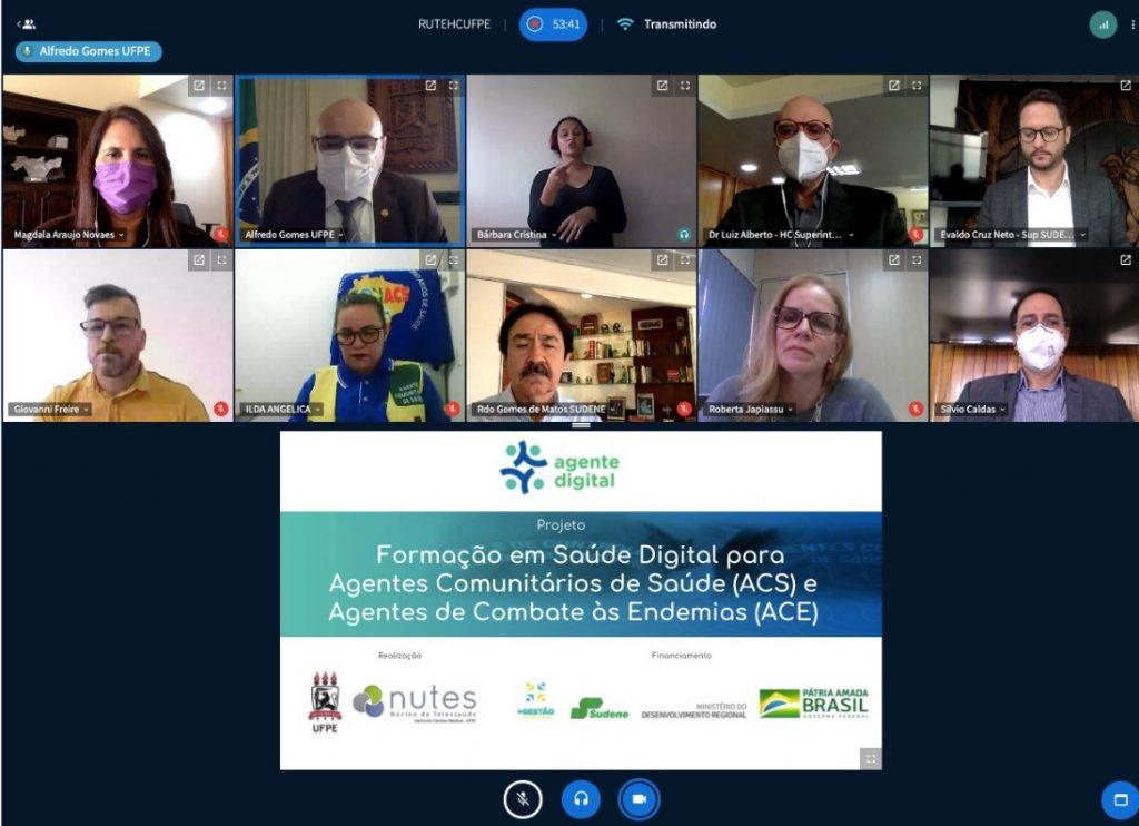 Projeto Agente Digital realiza formação em saúde digital para agentes comunitários de saúde e agentes de combate às endemias