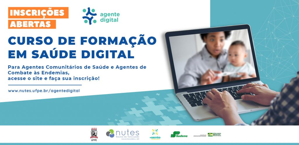 Inscrições Abertas para o I Curso de Formação em Saúde Digital destinado a Agentes Comunitários de Saúde (ACS) e Agentes de Combate às Endemias (ACE)