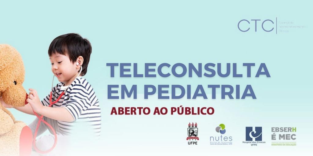 Agenda de Pediatria por Teleconsulta é aberta ao público